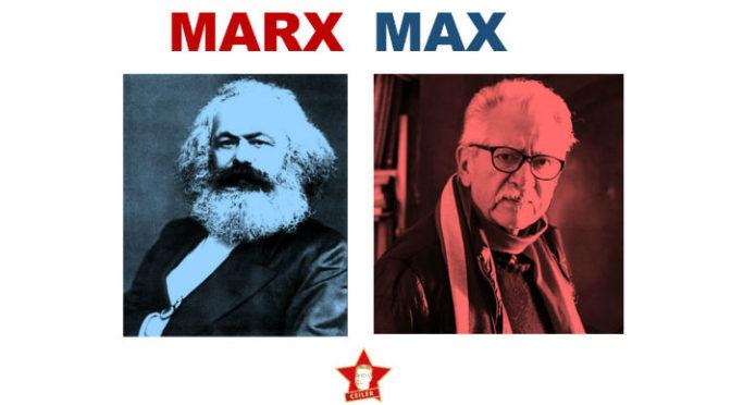 Emotivo homenaje a Karl Marx y Max Berrú